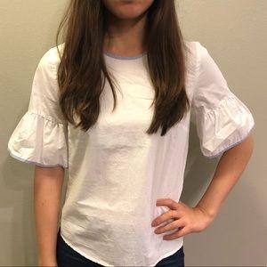 White J Crew blouse